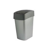 Odpadkový koš FLIP BIN 10L antracit/stříbrná