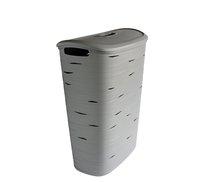 Koš na špinavé prádlo RIBBON 49L 37x55x23cm šedá