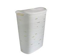 Koš na špinavé prádlo RIBBON 49L 37x55x23cm bílý