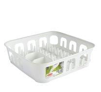 Odkapávač na nádobí ESSENTIALS bílý 40x40x11cm