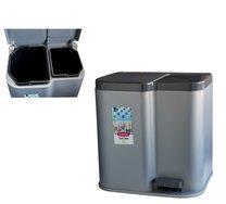 Odpadkový koš DUO pedál stříbrný 15L+ 6L 39x31x40cm