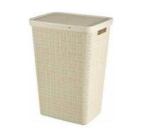 Koš na špin prádlo JUTE 58l 43x60x34cm béžová