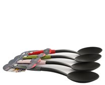 Plastová servírovací lžíce/bílá,růžová,šedá,zelená/33cm