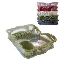 Odkapávač na nádobí/šedá,růžová,zelená,bílá,červená/47x33x11cm