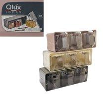 Plastová zásobnice na zavěšení/box 3ks/mix/27x11x14cm