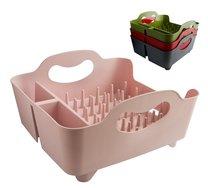 Odkapávač na nádobí plast 33x19x35cm/růžová,šedá,červená,zelená