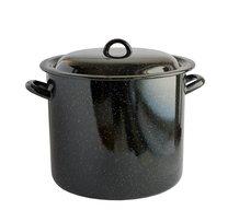 Hrnec s poklicí smalt černý 30 cm 17,5 L