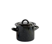 Hrnec s poklicí smalt černý 14 cm 1,5 L