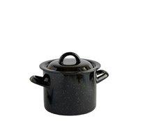 Hrnec s poklicí smalt černý 16 cm 2,5 L