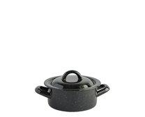 Kastrol s poklicí smalt černý 14 cm 0,8 L