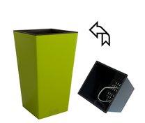 ELISE květináč samozavlažovací 15x15x26 cm zelený lesk In/Out