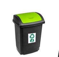 Odpadkový koš SWING 15L zelený