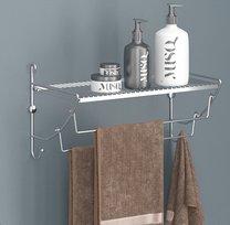 Držák na ručníky/polička chrom 43x25x25cm
